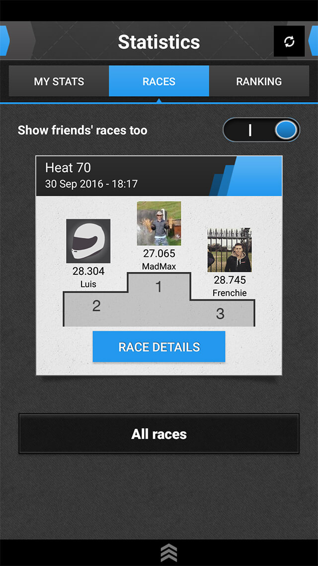 SMS Timing Mobile App – Live Timing