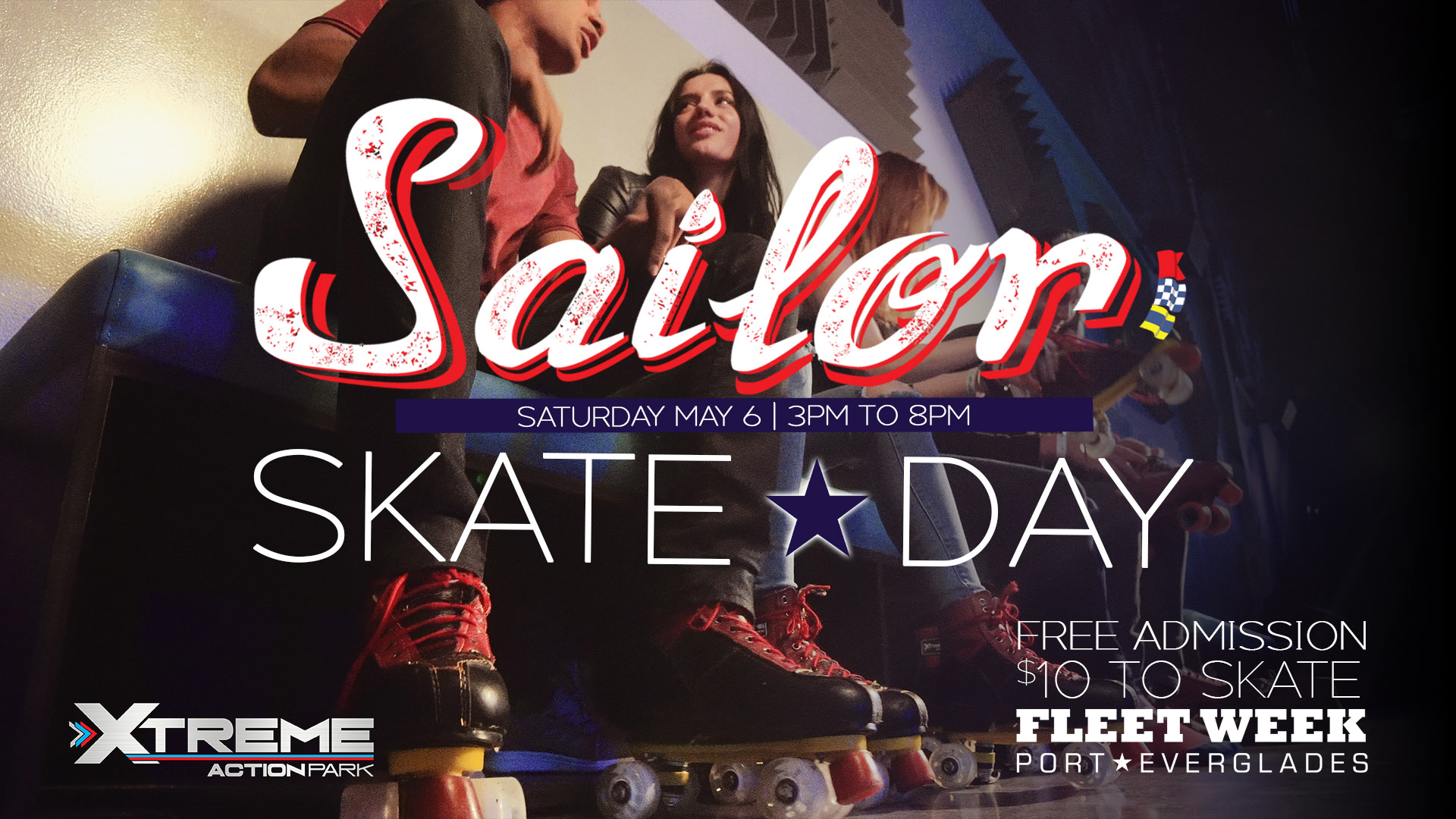 Fleet Week Sailor Skate At Xtreme Action Park