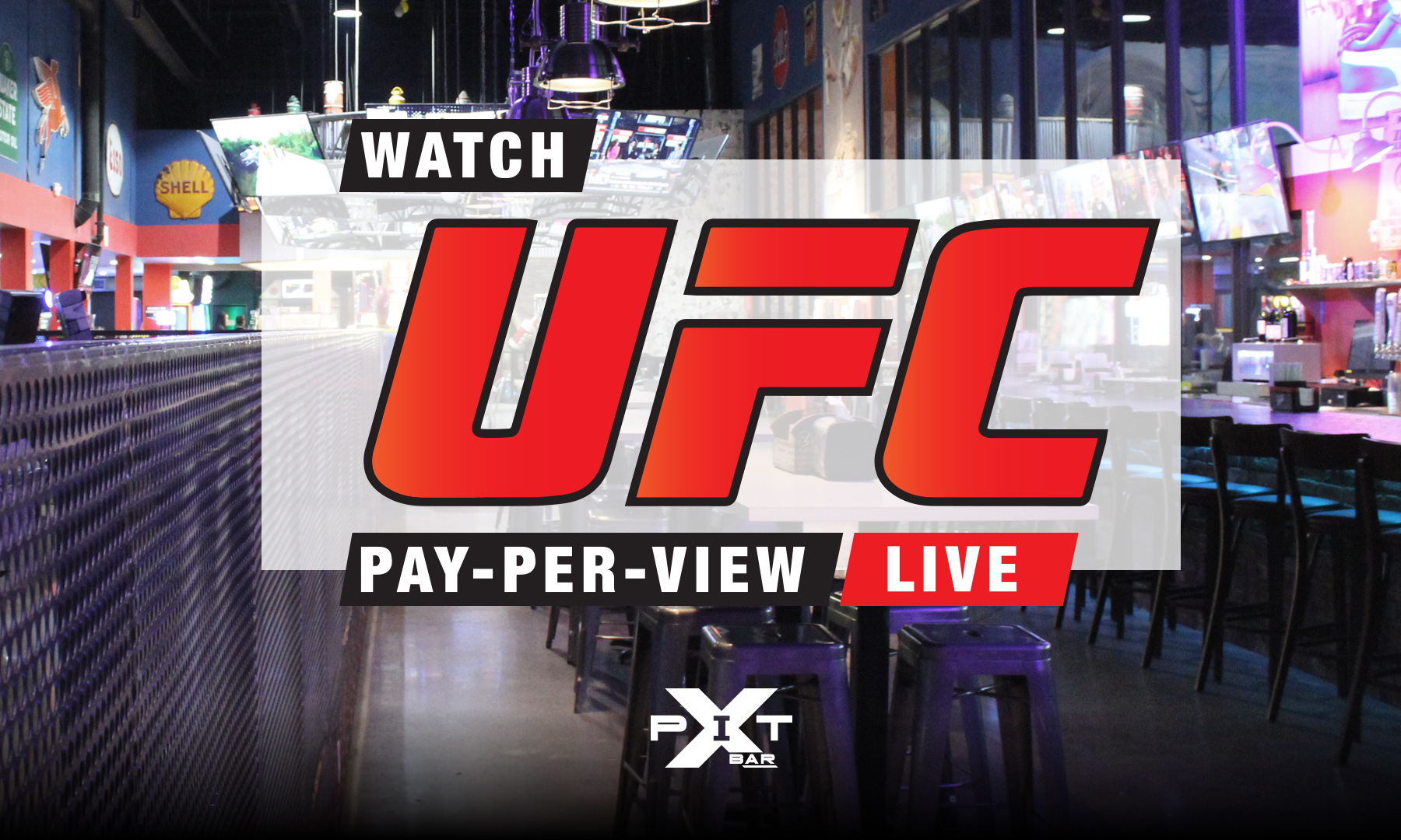 featuring live pay per view UFC watch parties