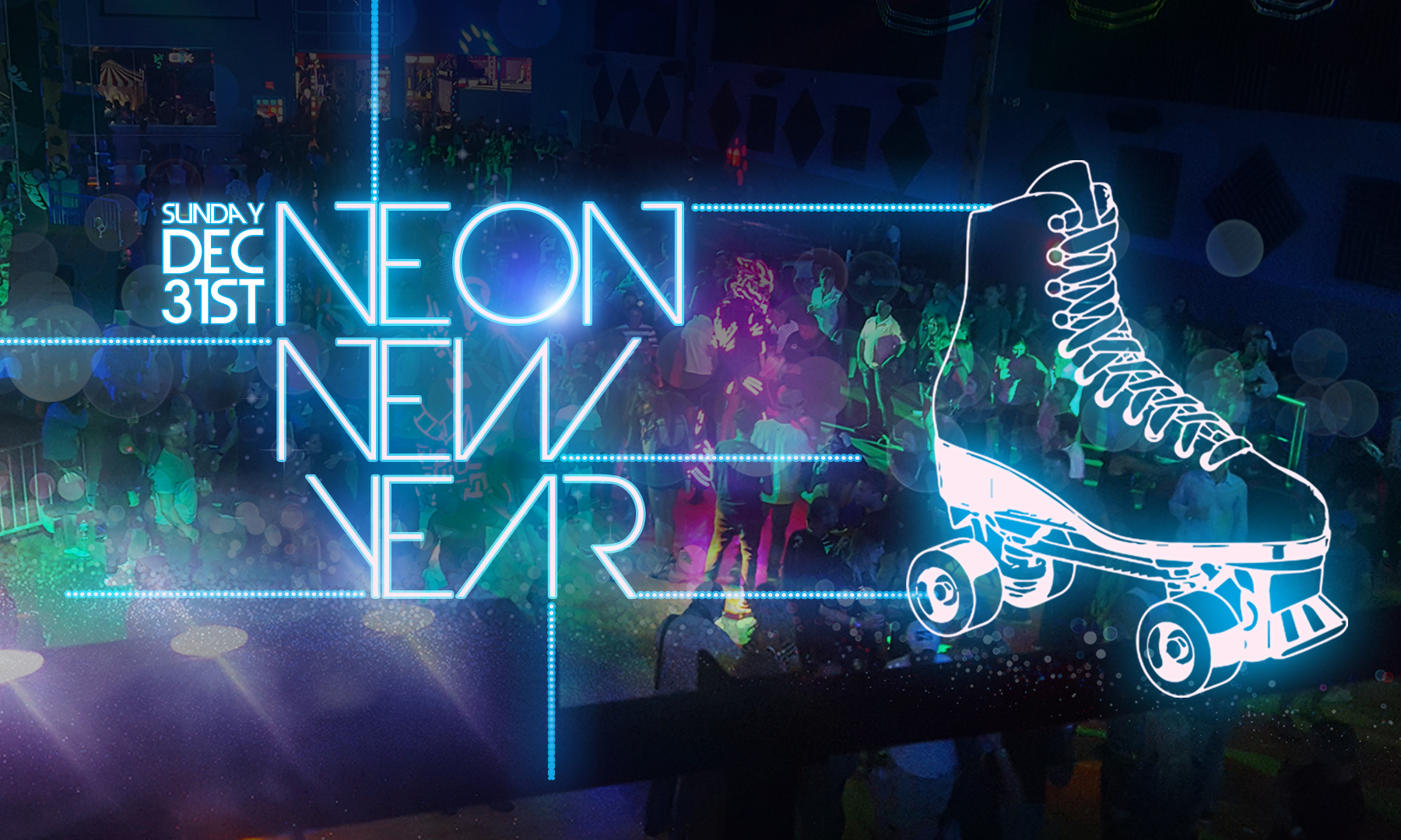 Neon New Years Eve Party Xtreme Action Park