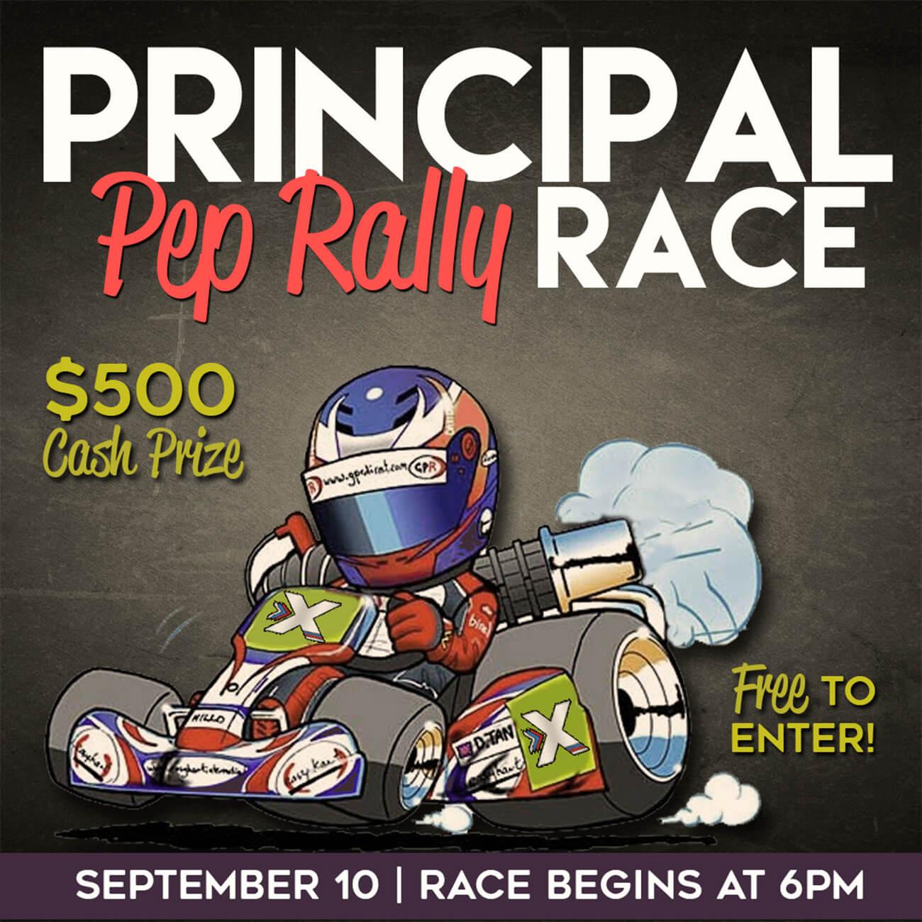 Principal Pep Rally Race