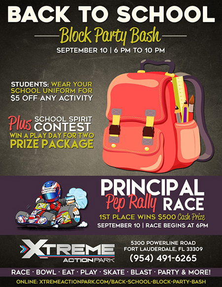 school-poster | Xtreme Action Park | Corporate & Family Fun