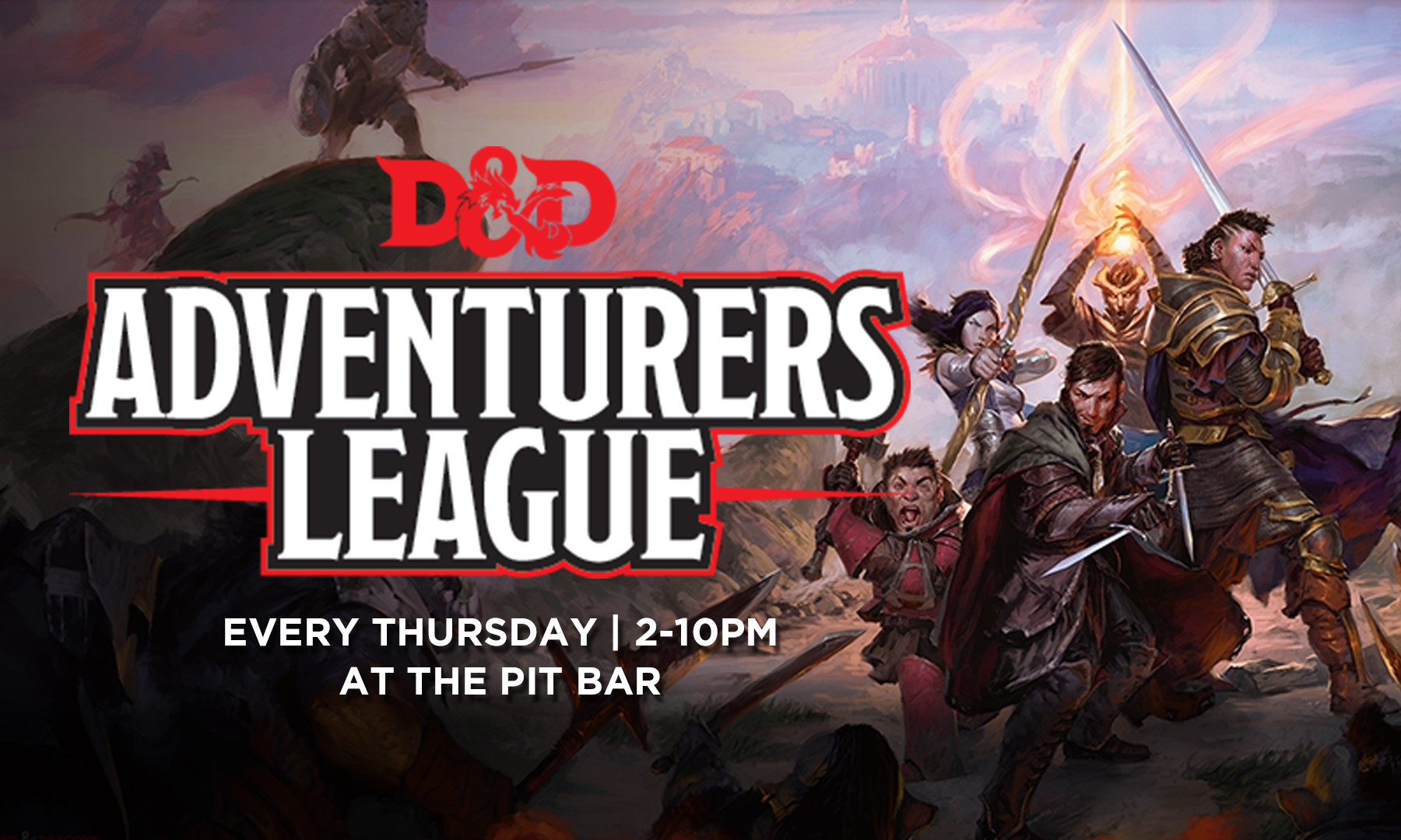 d&d at the pitbar every wednesday