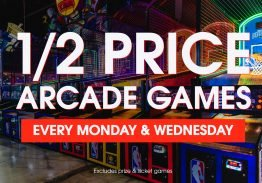 Half Price Arcade Games at the Park