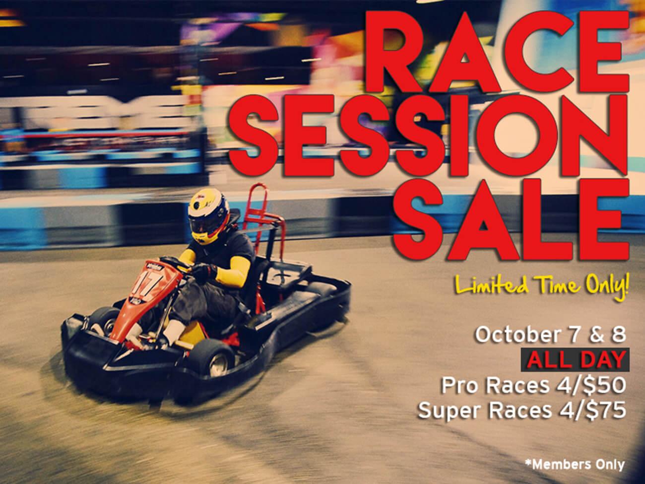 Race Session Sale!