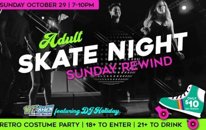 Sunday Rewind Adult Skate Night featuring The Beach 102.7's DJ Holiday