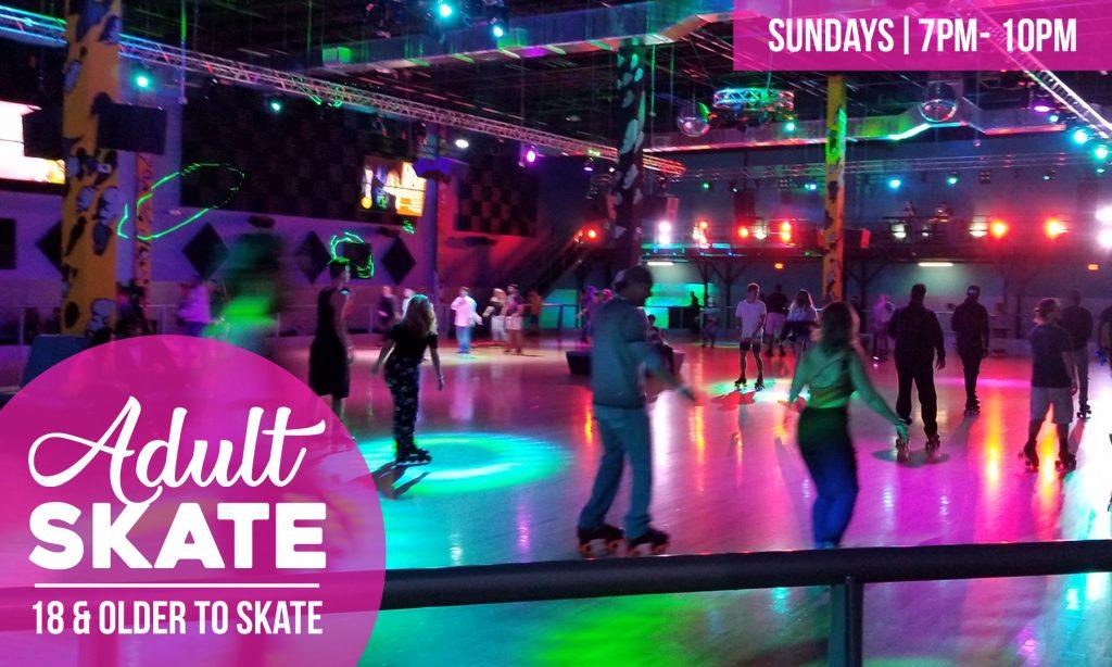 Adult roller skating night