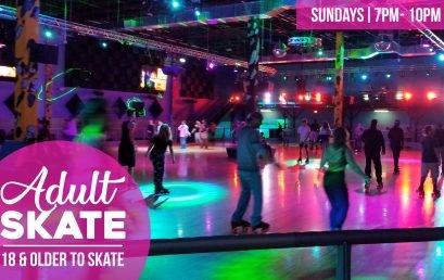 Sunday Rewind Adult Skate Night