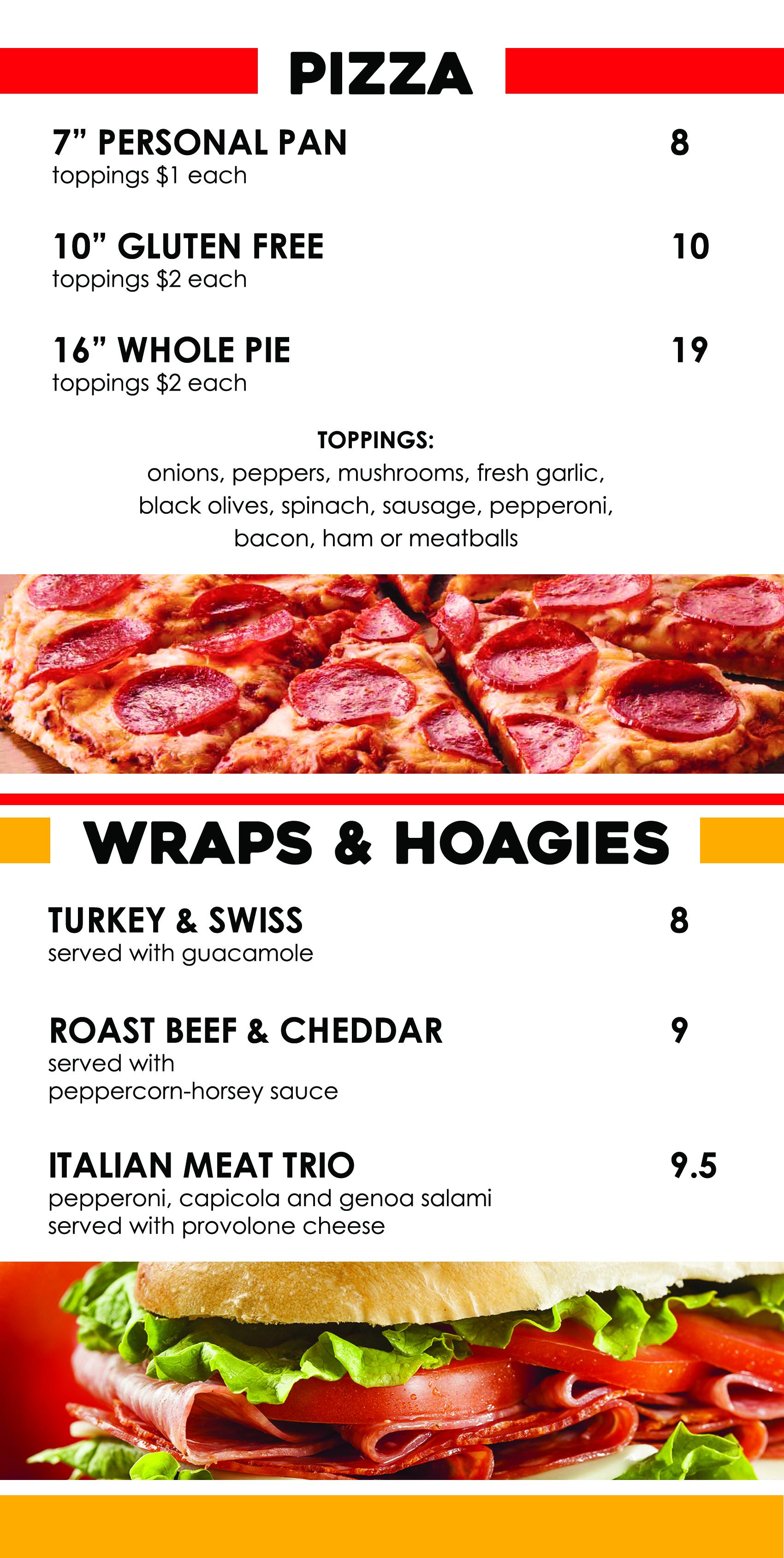 Pizza & Wraps