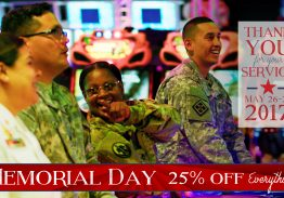 25% Off Memorial Day Weekend