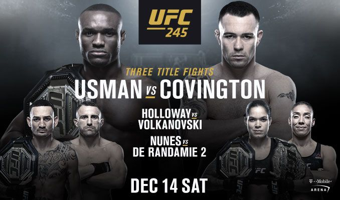 UFC 245 showing at The Pit Bar