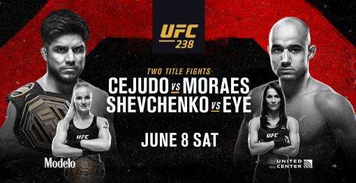 UFC 238: Cejudo vs. Moraes. Watch it at The Pit Bar