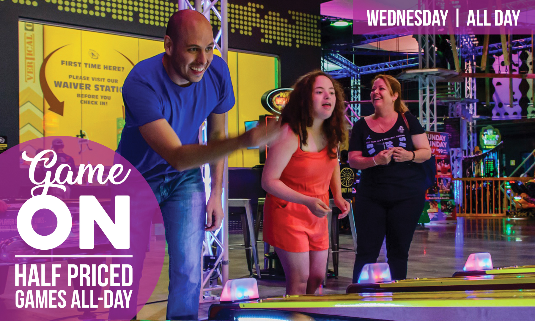 Game One Wednesdays at Xtreme Action Park