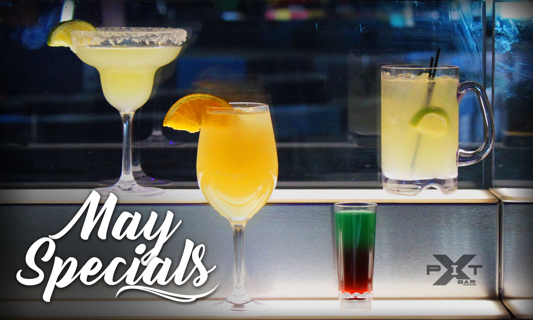 May Drink Specials at The Pit Bar