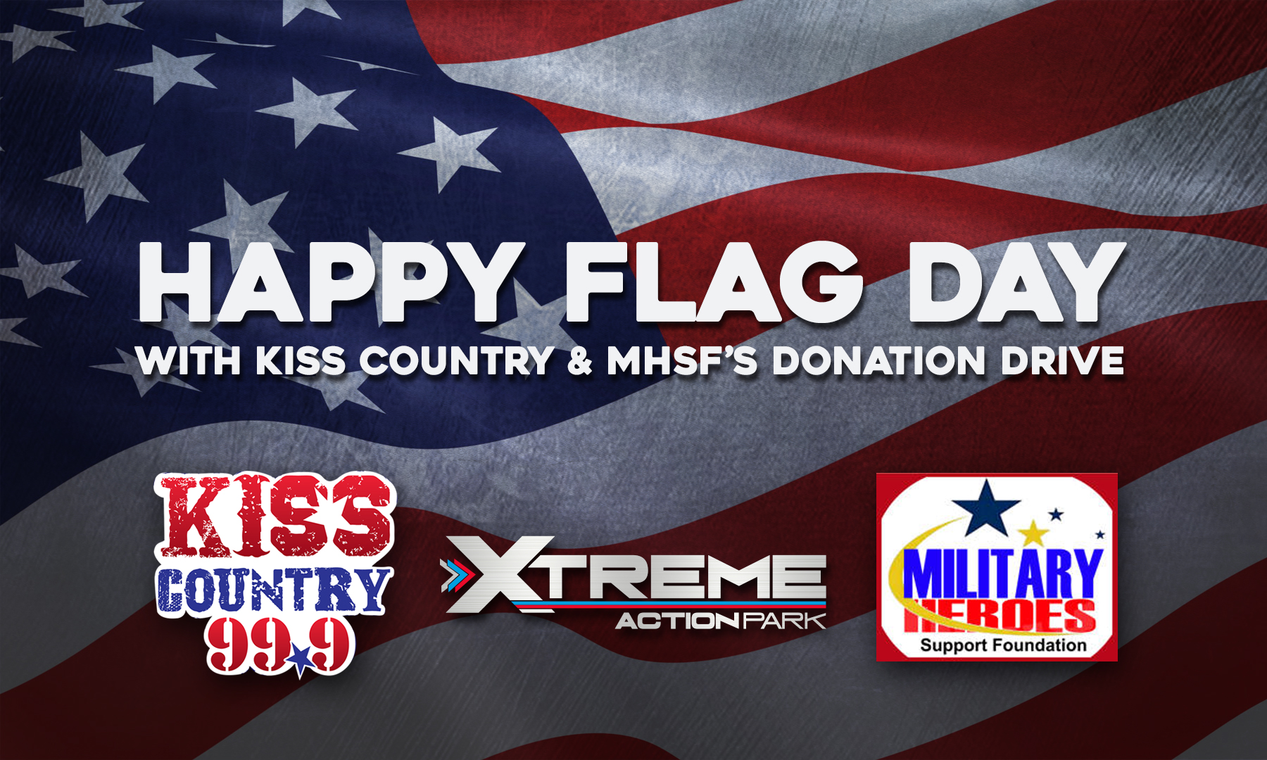 KISS Country Flag Day And Donation Drive