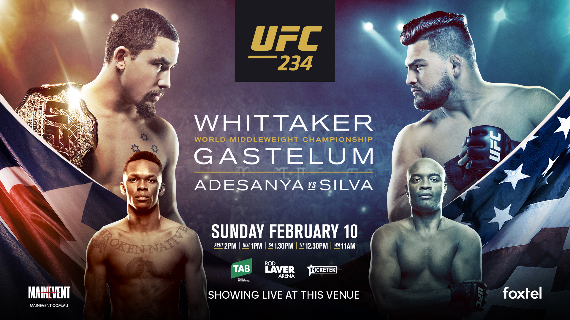 Watch UFC 234 at the Pit Bar
