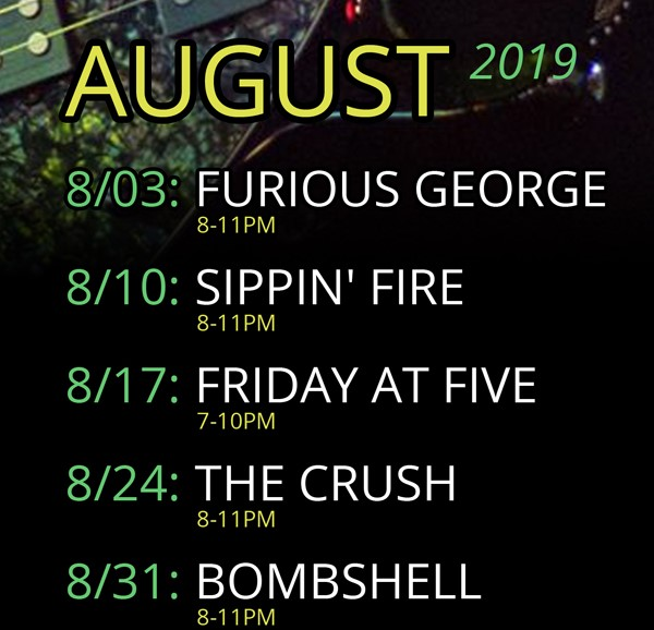 august live band line up