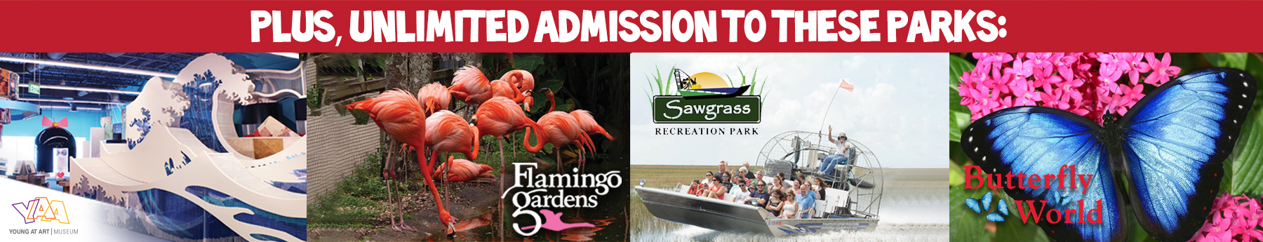 SFAP unlimited admission to these parks