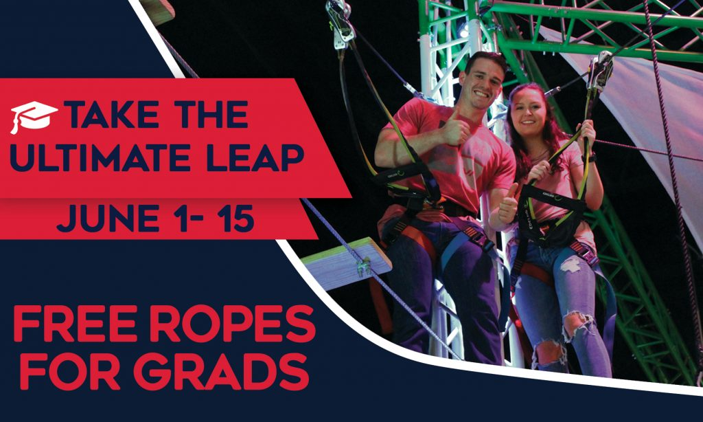 Free Ropes Course for 2019 Grads