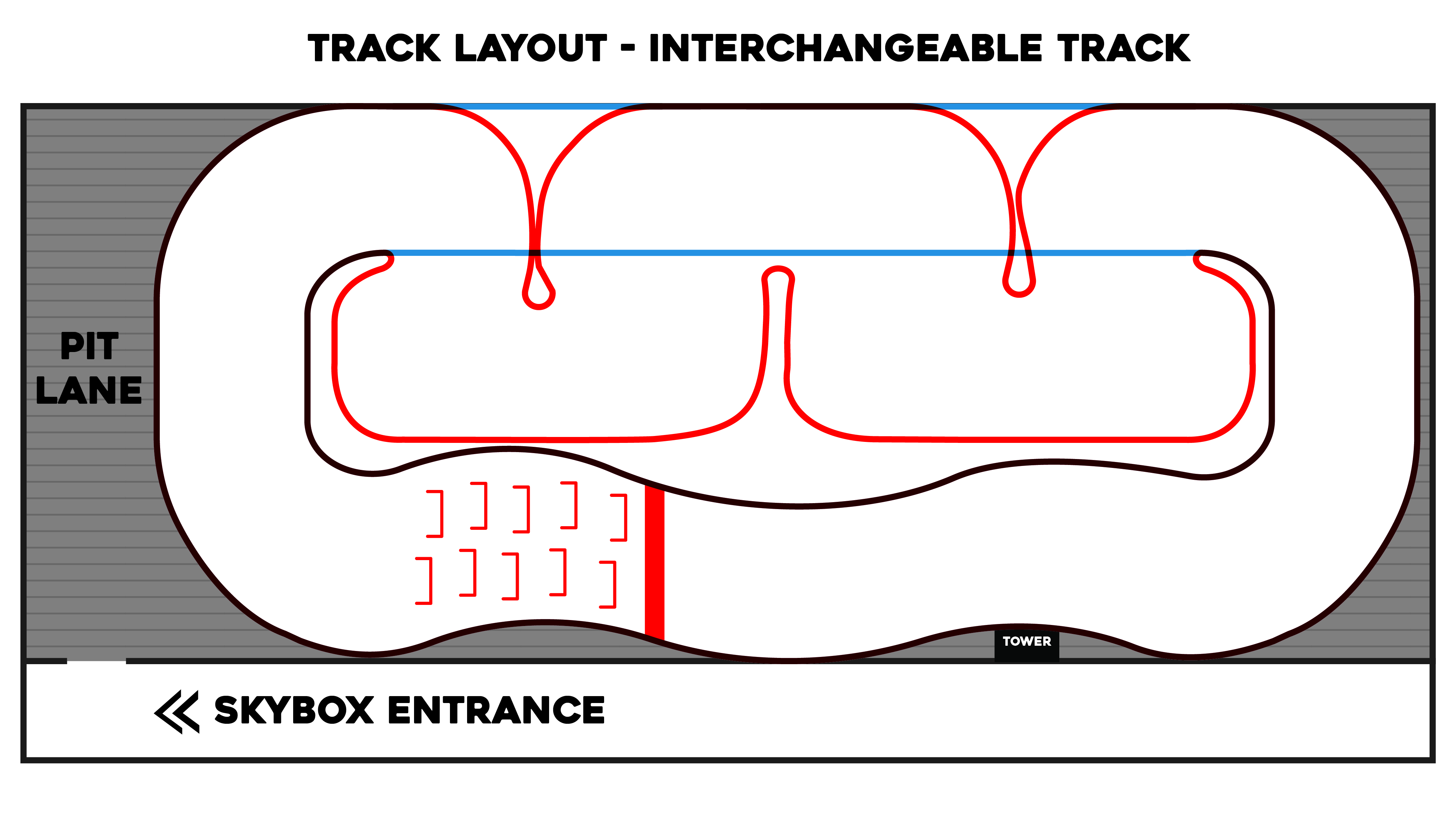 Interchangeable track layout