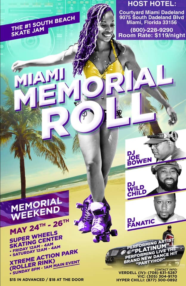 Miami Memorial Roll Main Event Poster
