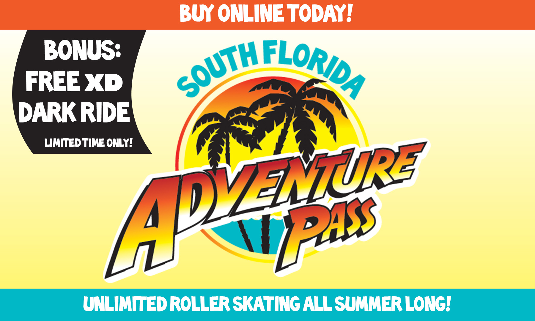 Unlimited Roller Skating all Summer with South Florida Adventure Pass