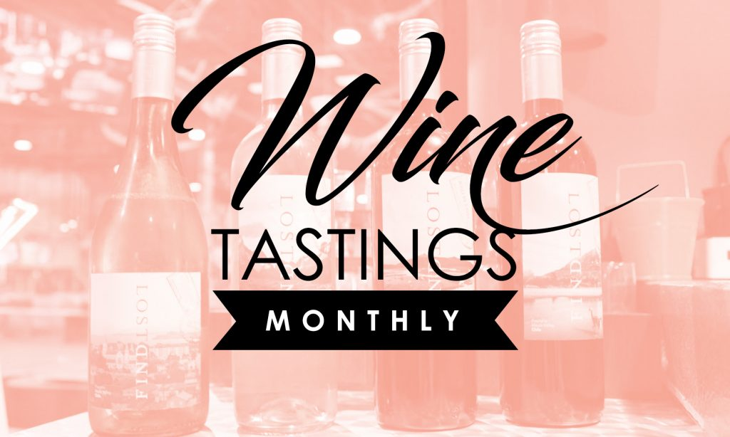 monthly wine tastings