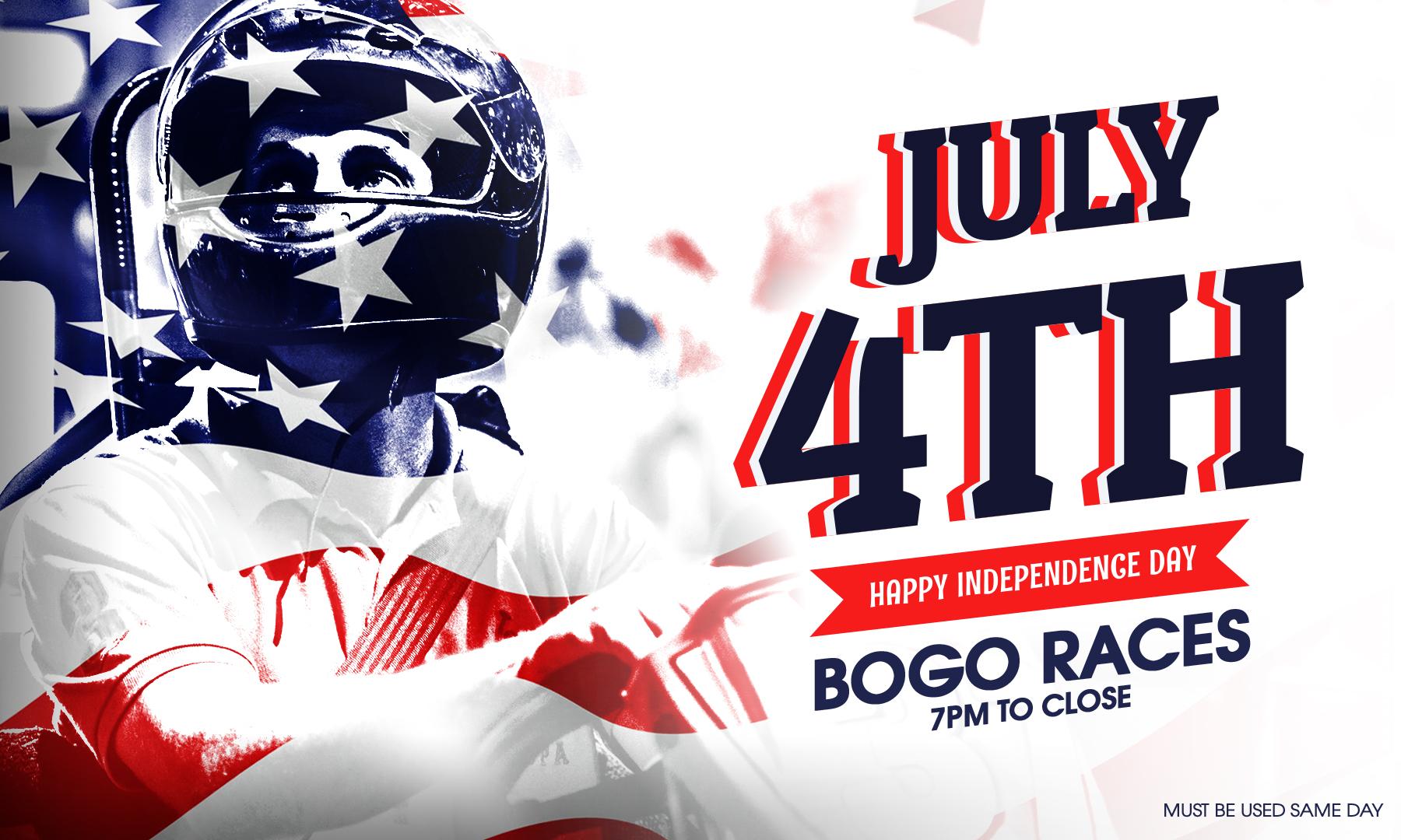 4th of July BOGO go karting offer