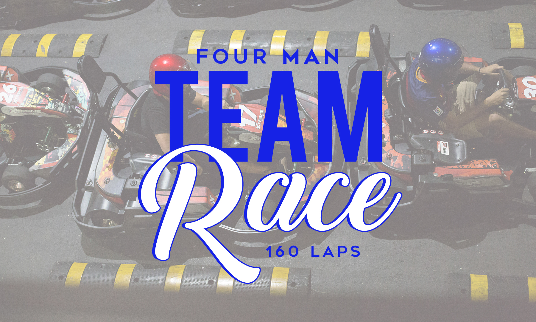 Four Man Team Race Logo and Kart Image