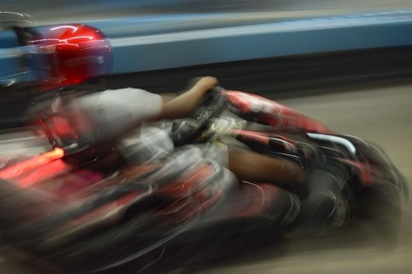 Fast Moving Go kart Picture