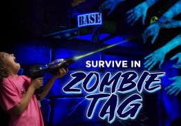 Survive in Zombie Laser Tag