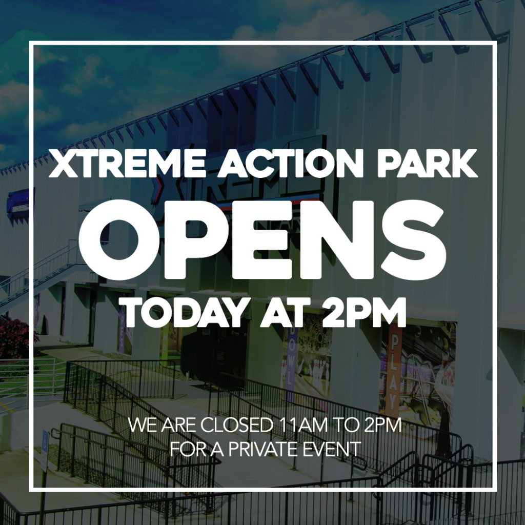The park opens at 2pm today