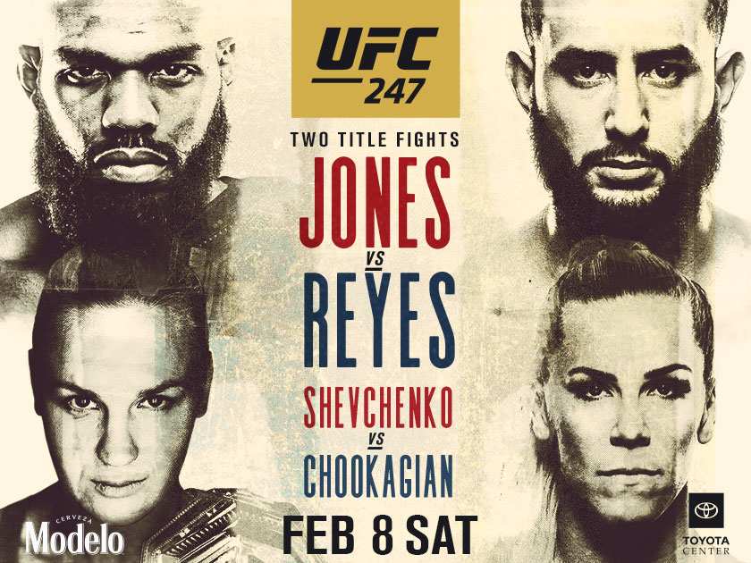UFC 247 shown at the pit bar