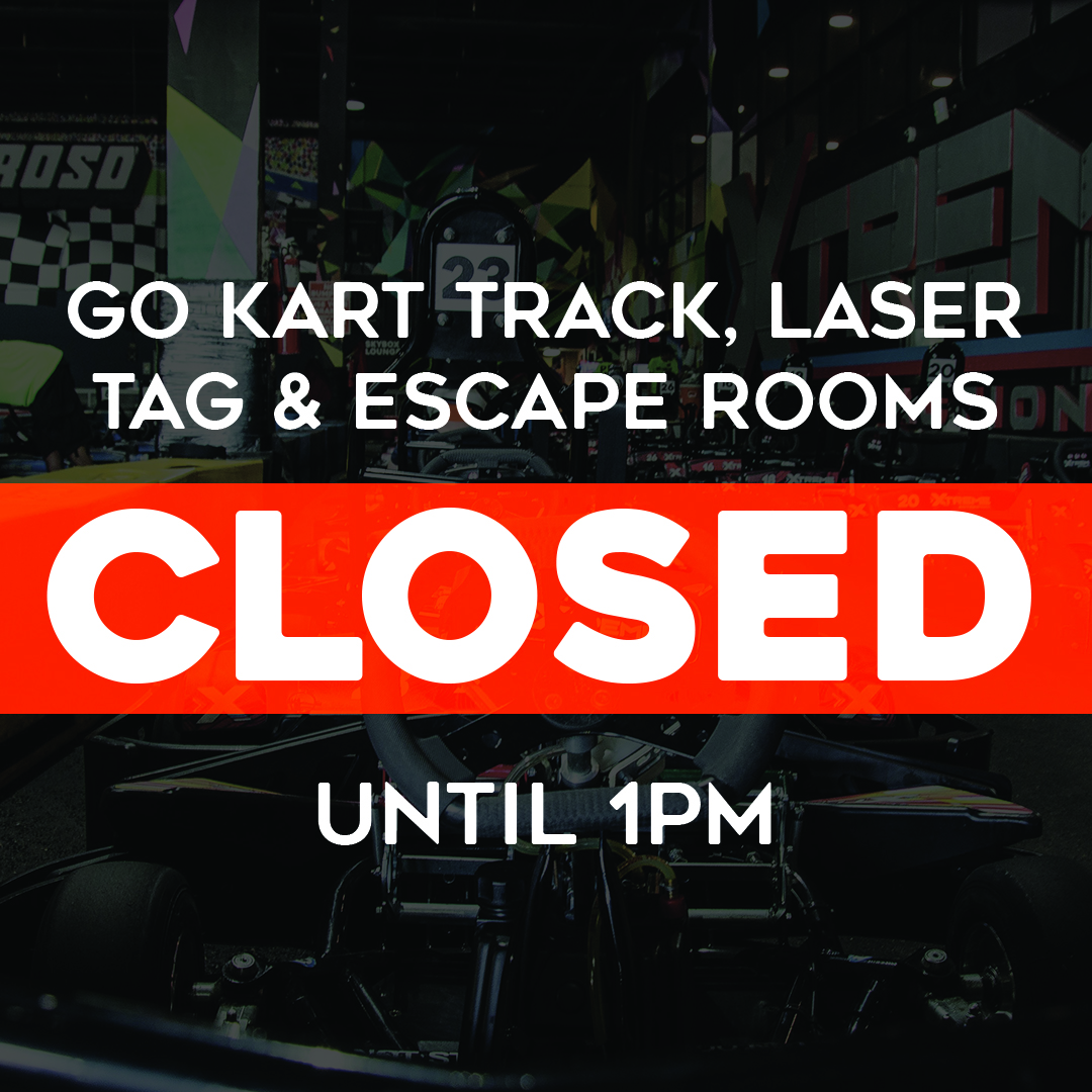 certain activities closed til 1pm today