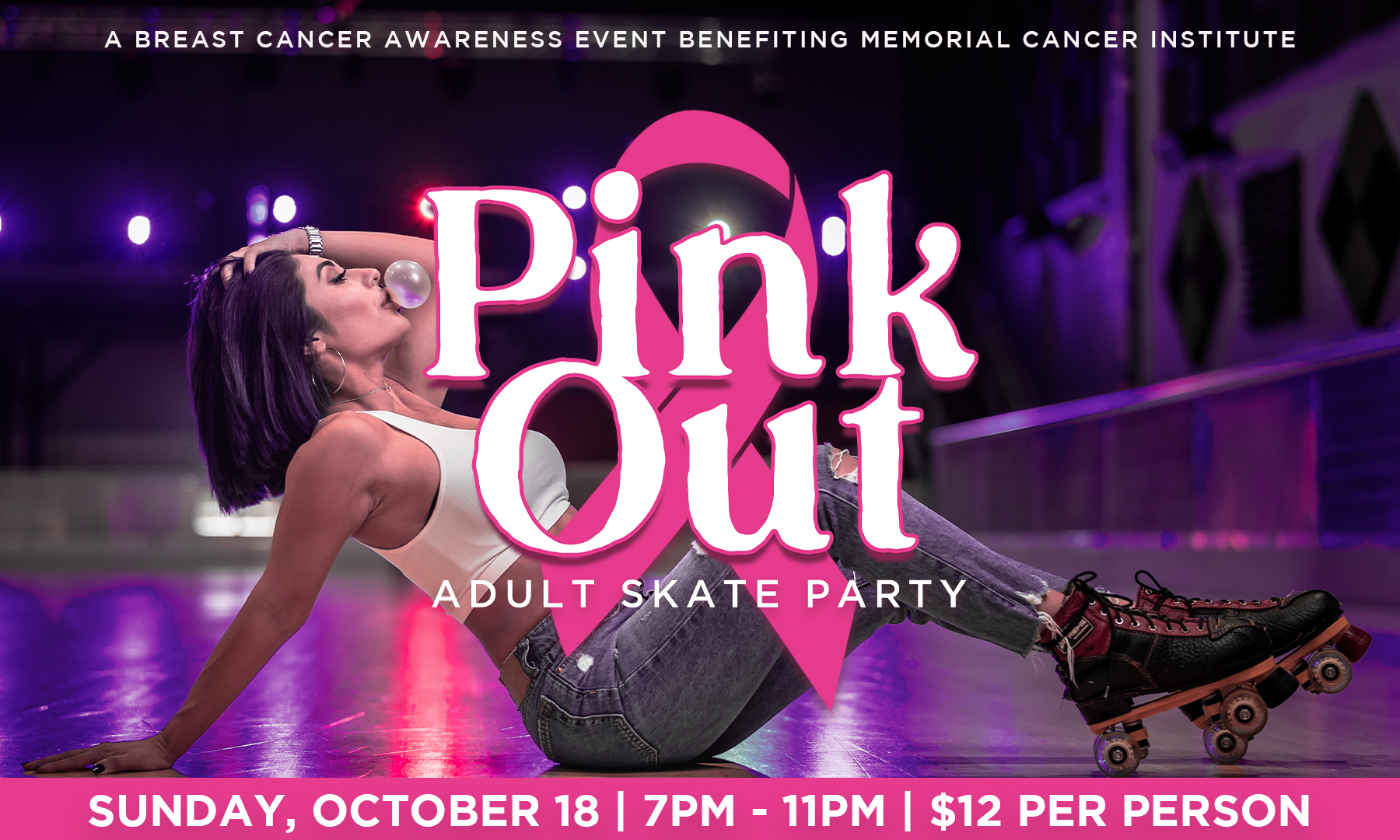 Pink Out Skate Party for Breast Cancer Awarenes