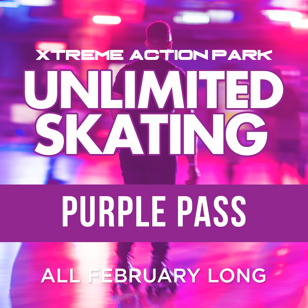 Purple Pass - Unlimited Skating in February