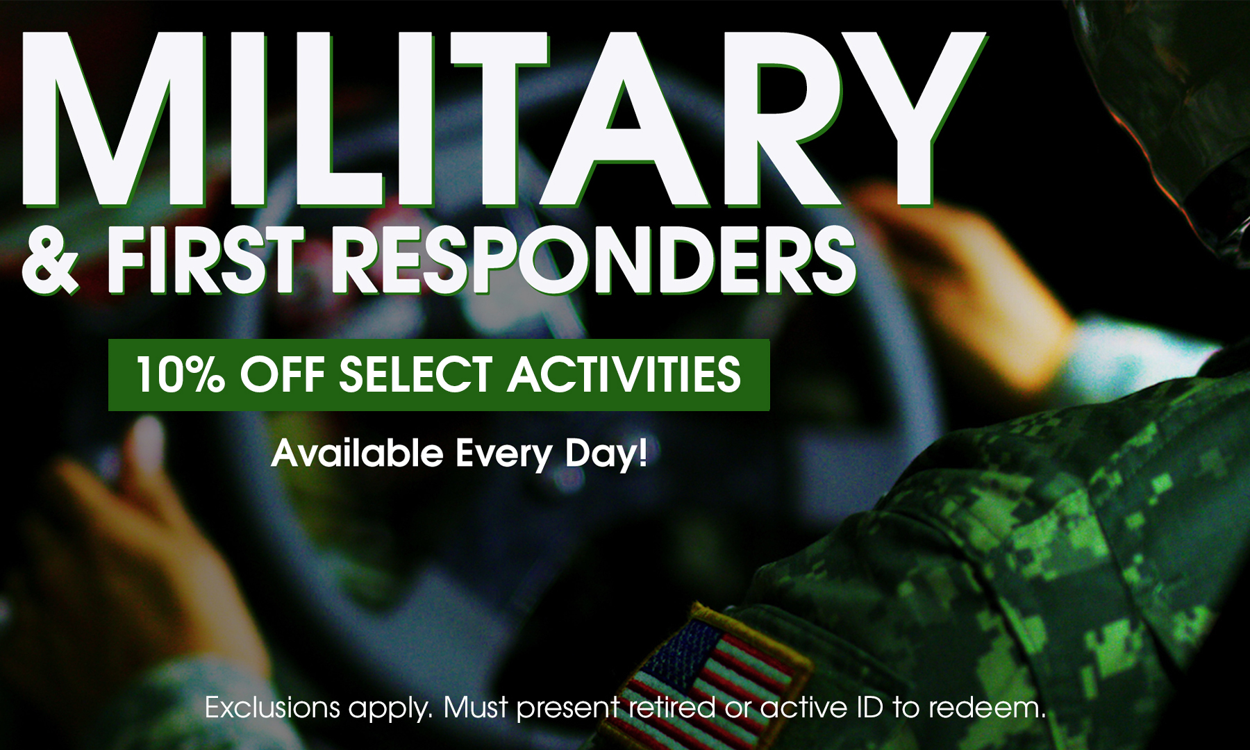 Military discount available at Xtreme Action Park